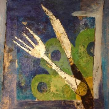 Forchetta e coltello (40x50)