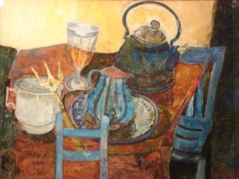 Le sedie blu (50x40)